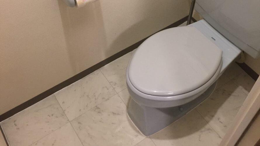 憧れの大理石風の床に!我が家のトイレを簡単リノベ☆