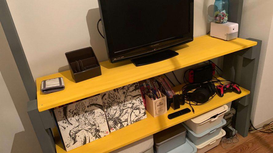 手作りの本棚兼テレビ台でオシャレな子供部屋が完成!